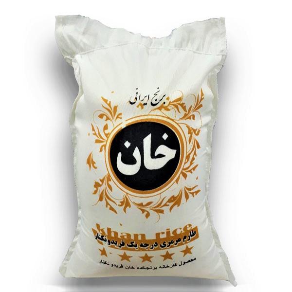 برنج فجر طارم مرمری درجه یک - برنج خان - 10 کیلو