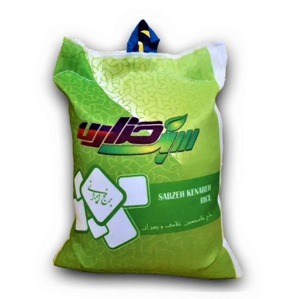 برنج کشت دوم سبزکناره - برنج خان - 10 کیلو