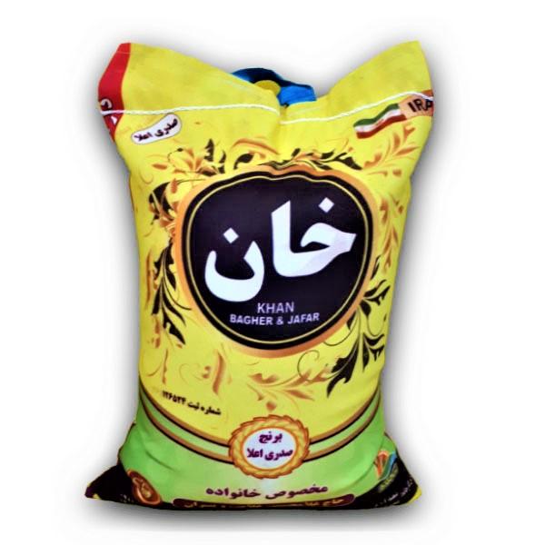 برنج کشت دوم صدری اعلا - برنج خان - 10 کیلو