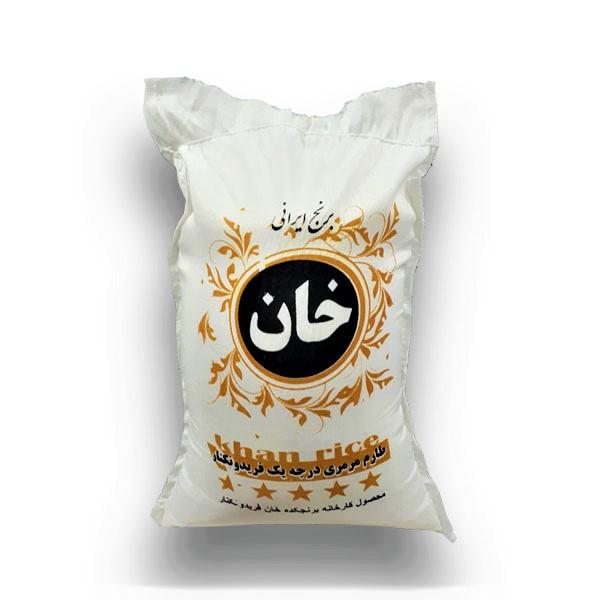 برنج فجر طارم مرمری ممتاز - برنج خان - 5 کیلو